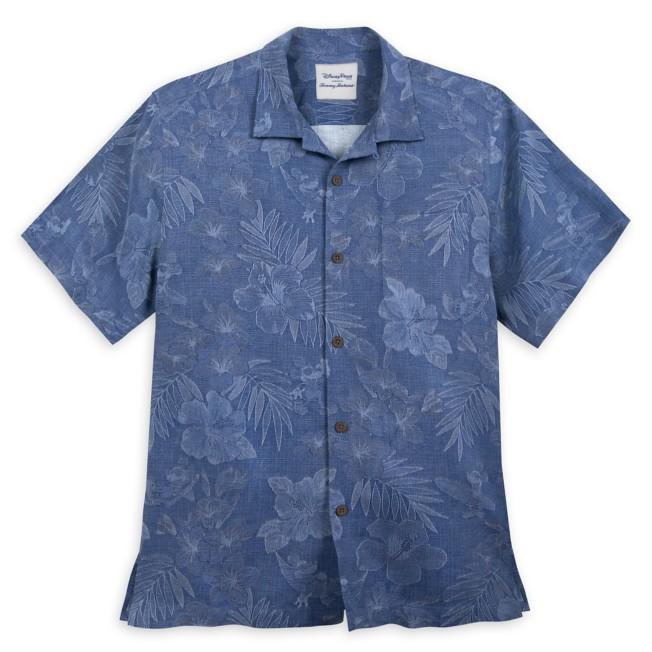 Mickey Mouse Jacquard Aloha Silk Shirt for Men by Tommy Bahama – Blue