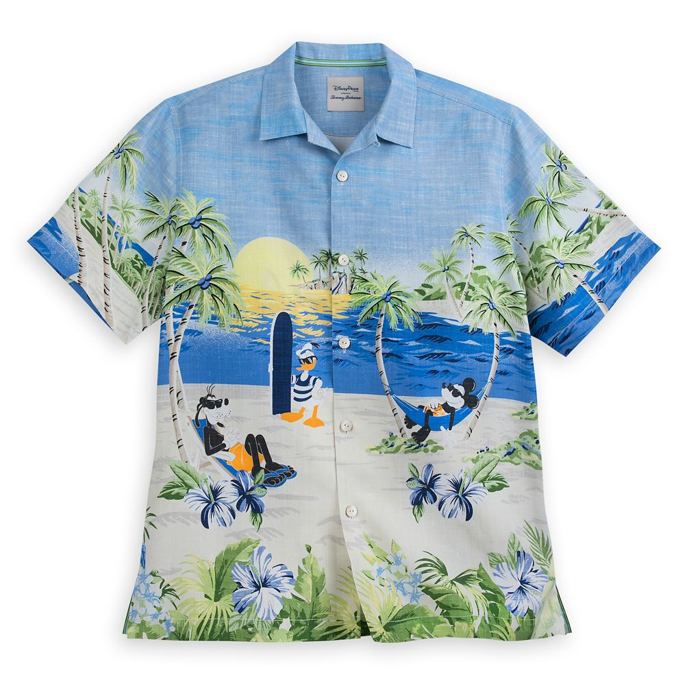 Mickey Mouse and Friends Silk Shirt for Men by Tommy Bahama