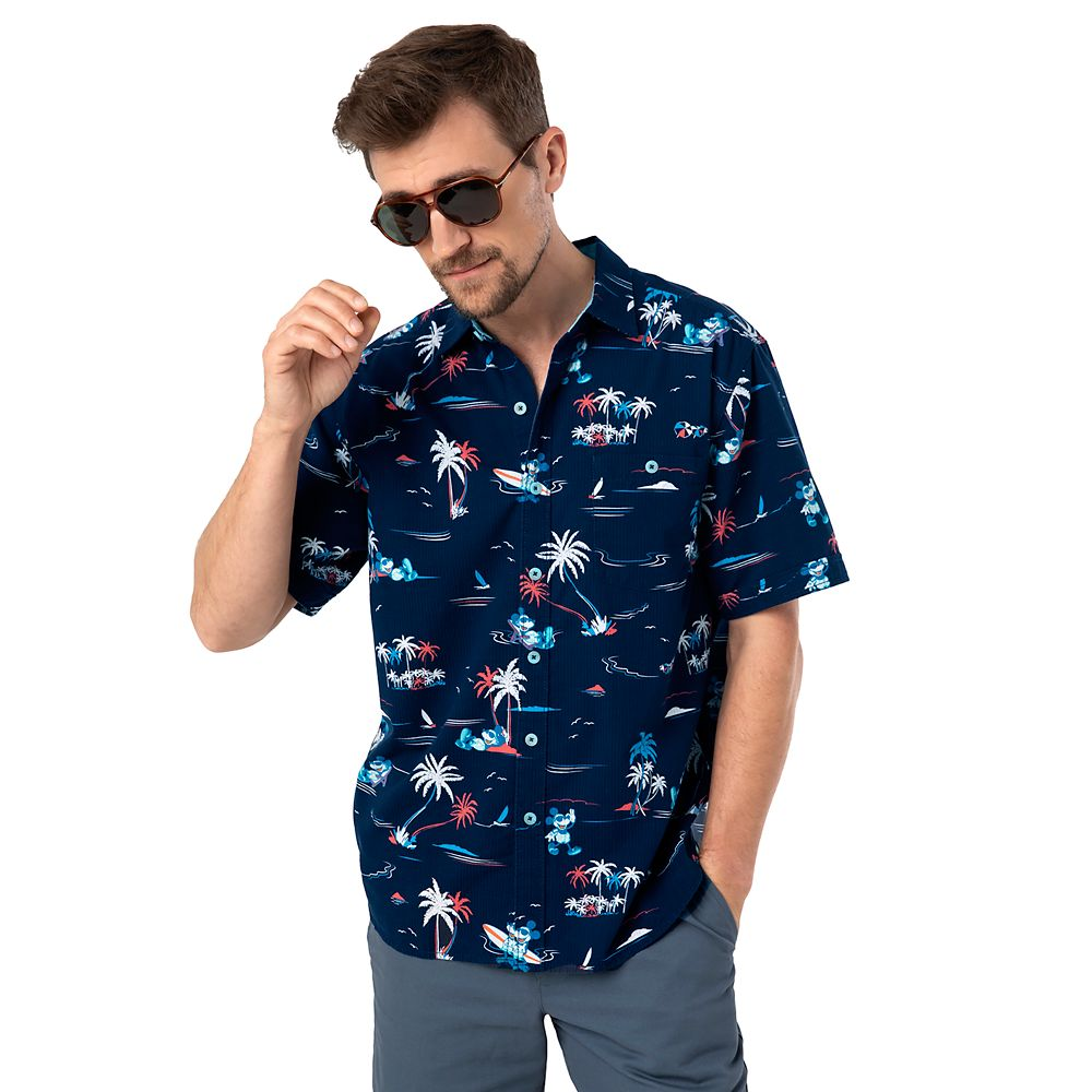 Mickey Mouse Button Shirt for Men by Tommy Bahama – Navy
