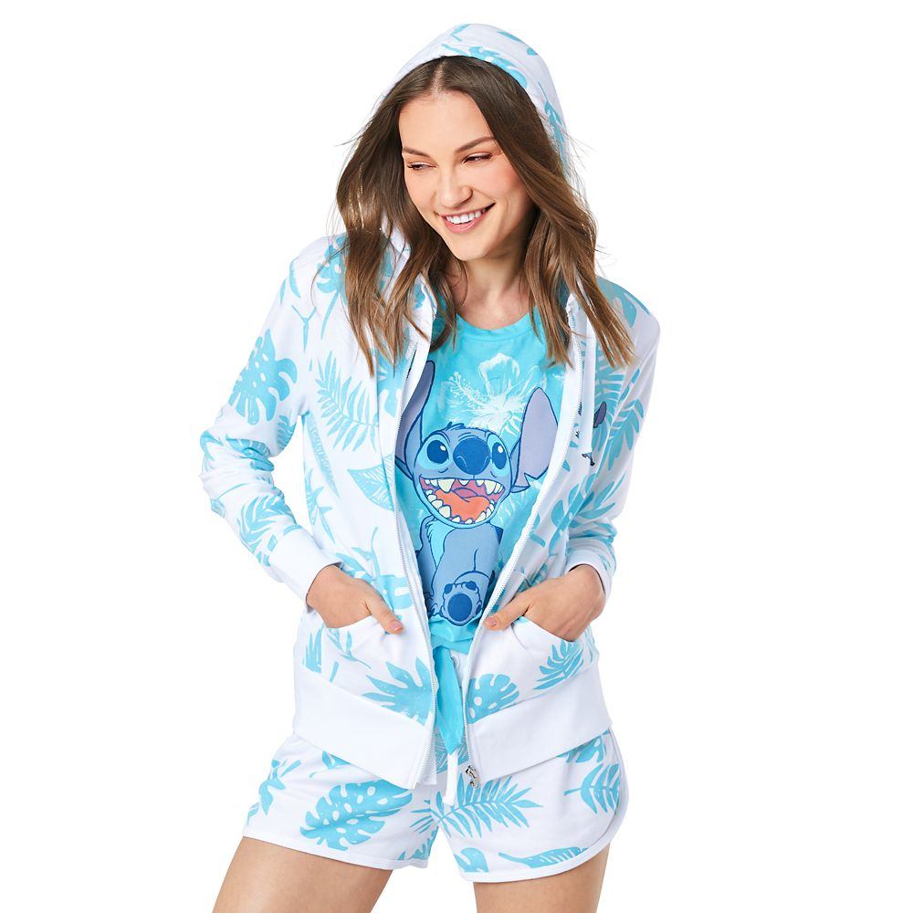 Stitch Zip Hoodie for Women