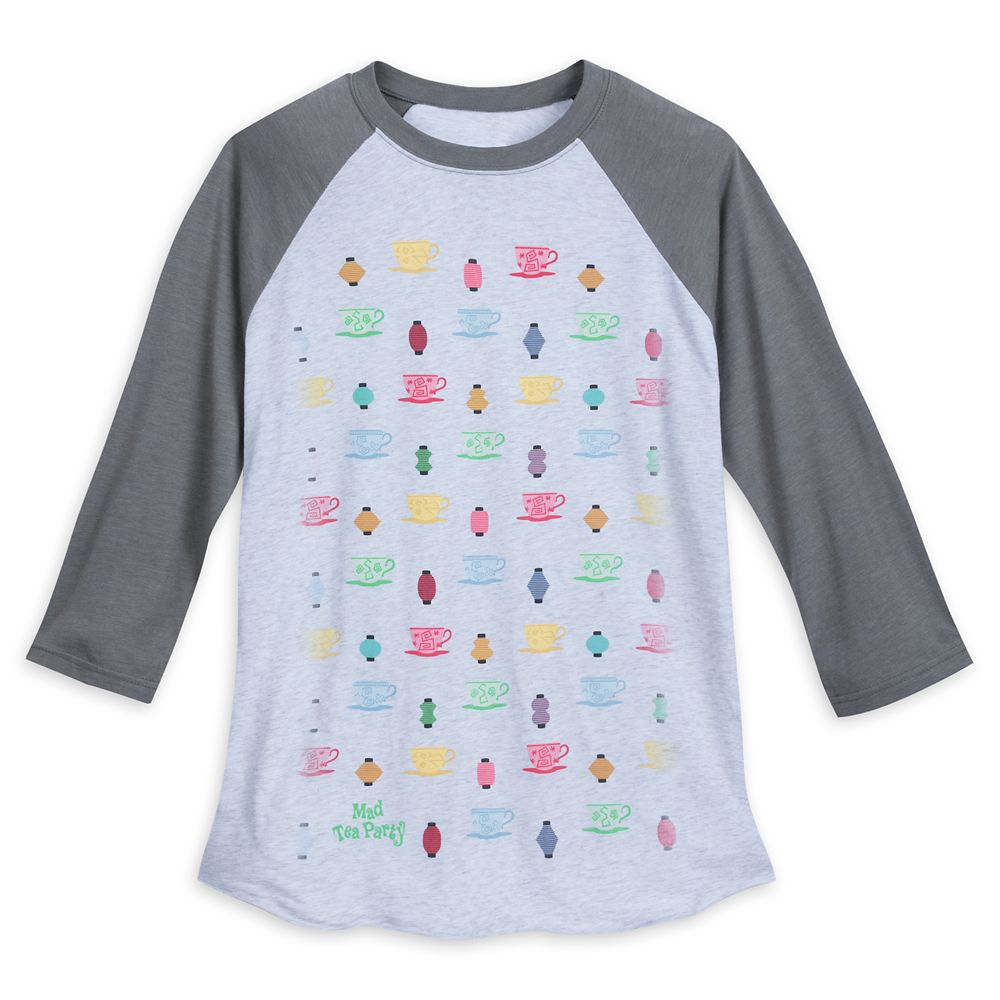 Mad Tea Party Raglan Baseball T-Shirt for Men