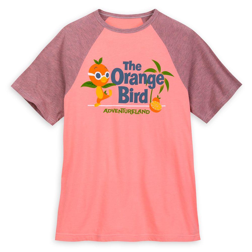 Orange Bird Raglan Shirt for Men