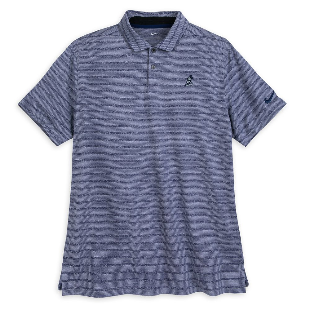 Mickey Mouse Striped Performance Polo Shirt for Men by Nike  Blue Official shopDisney