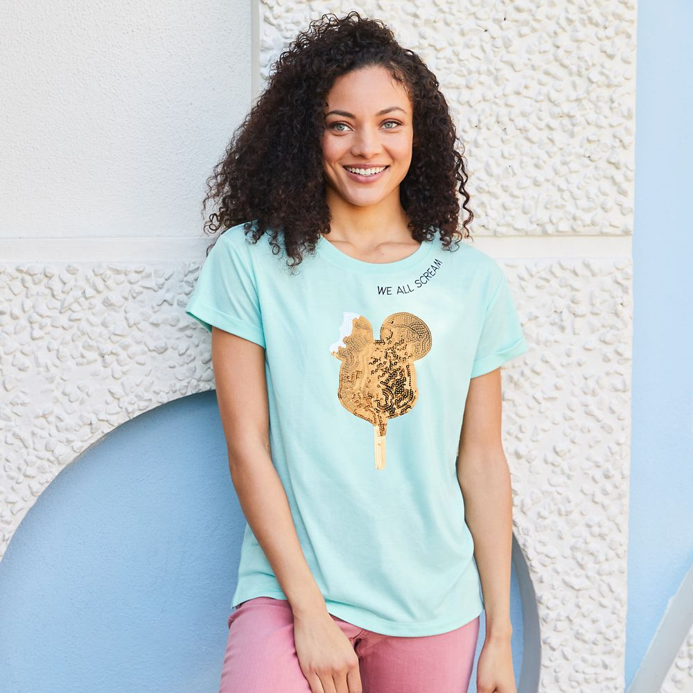 Mickey Mouse Ice Cream Bar T-Shirt for Women