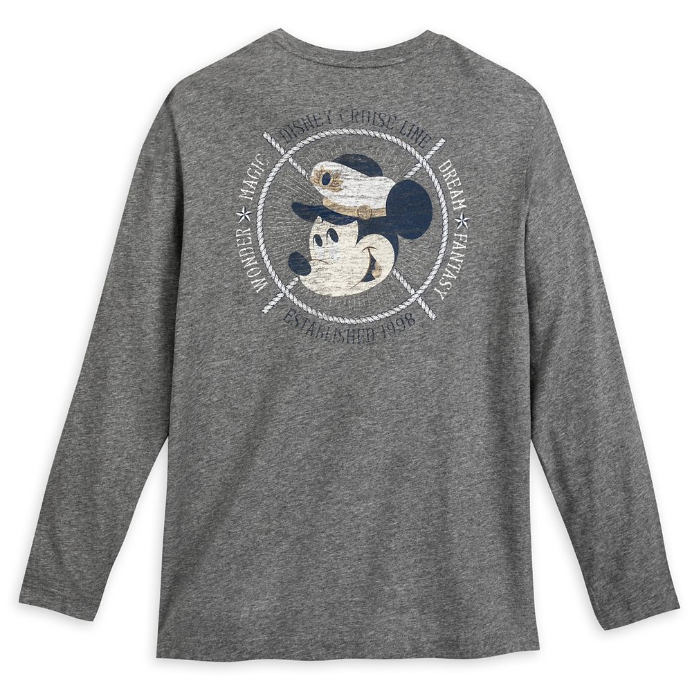 Captain Mickey Mouse Long Sleeve T-Shirt for Men – Disney Cruise Line