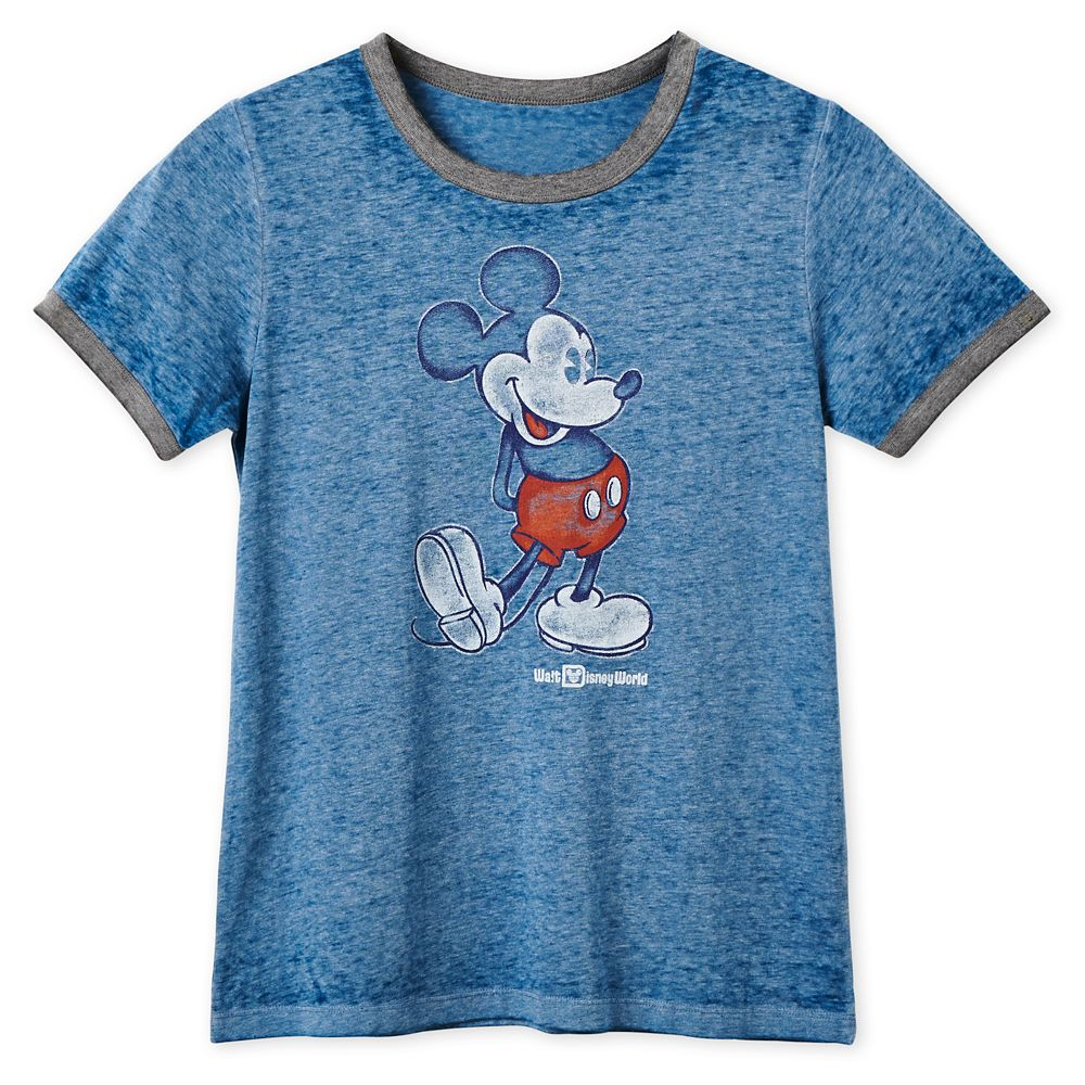 Mickey Mouse Heathered Ringer T-Shirt for Women – Walt Disney World