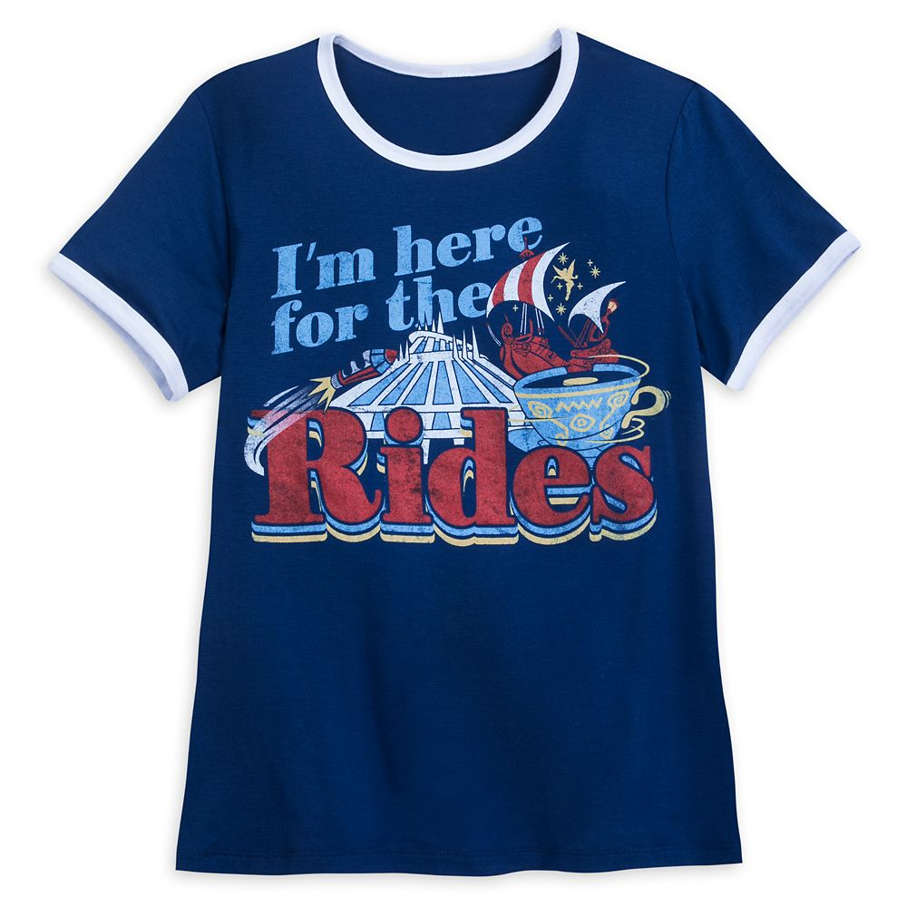 Disney Parks ''I'm here for the Rides'' Ringer T-Shirt for Women