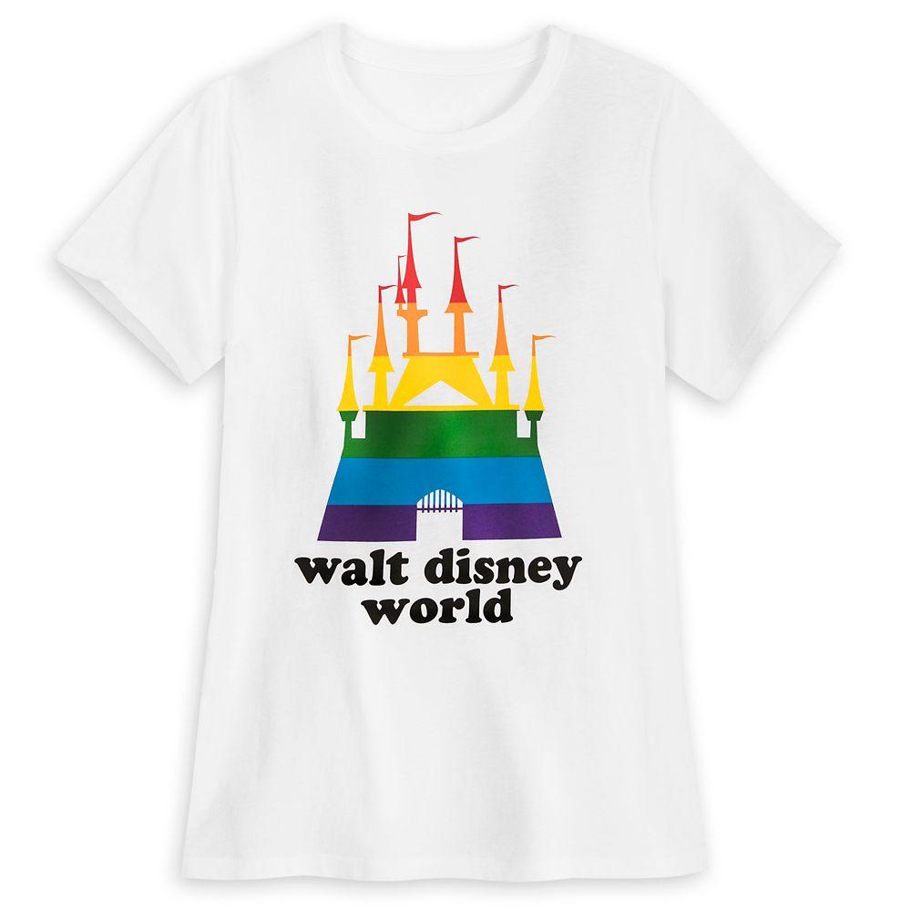 Rainbow Disney Collection Fantasyland Castle T-Shirt for Adults  Walt Disney World