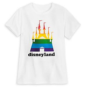 Rainbow Disney Collection Fantasyland Castle T-Shirt for Adults - Disneyland