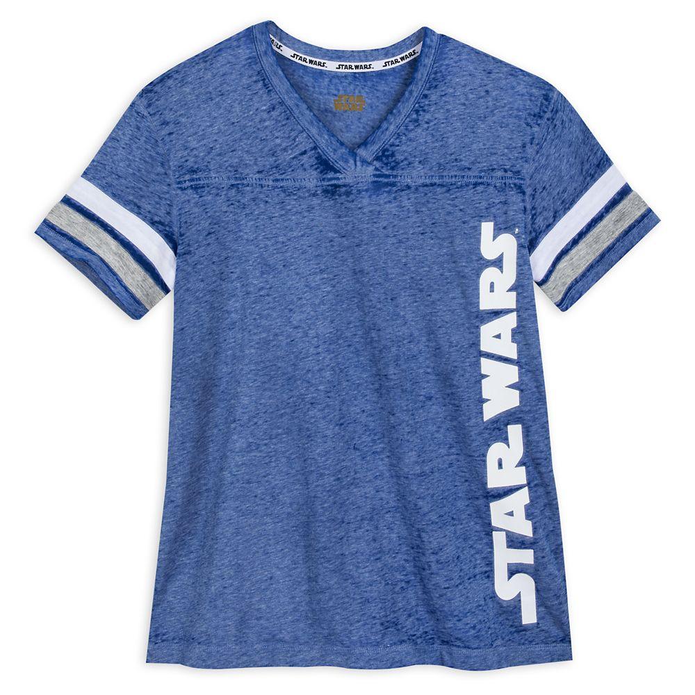Star Wars Logo Football T-Shirt for Women
