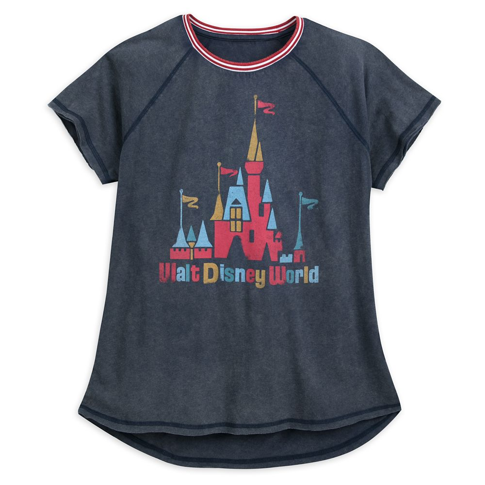 Fantasyland Castle Raglan T-Shirt for Women by Junk Food – Walt Disney World