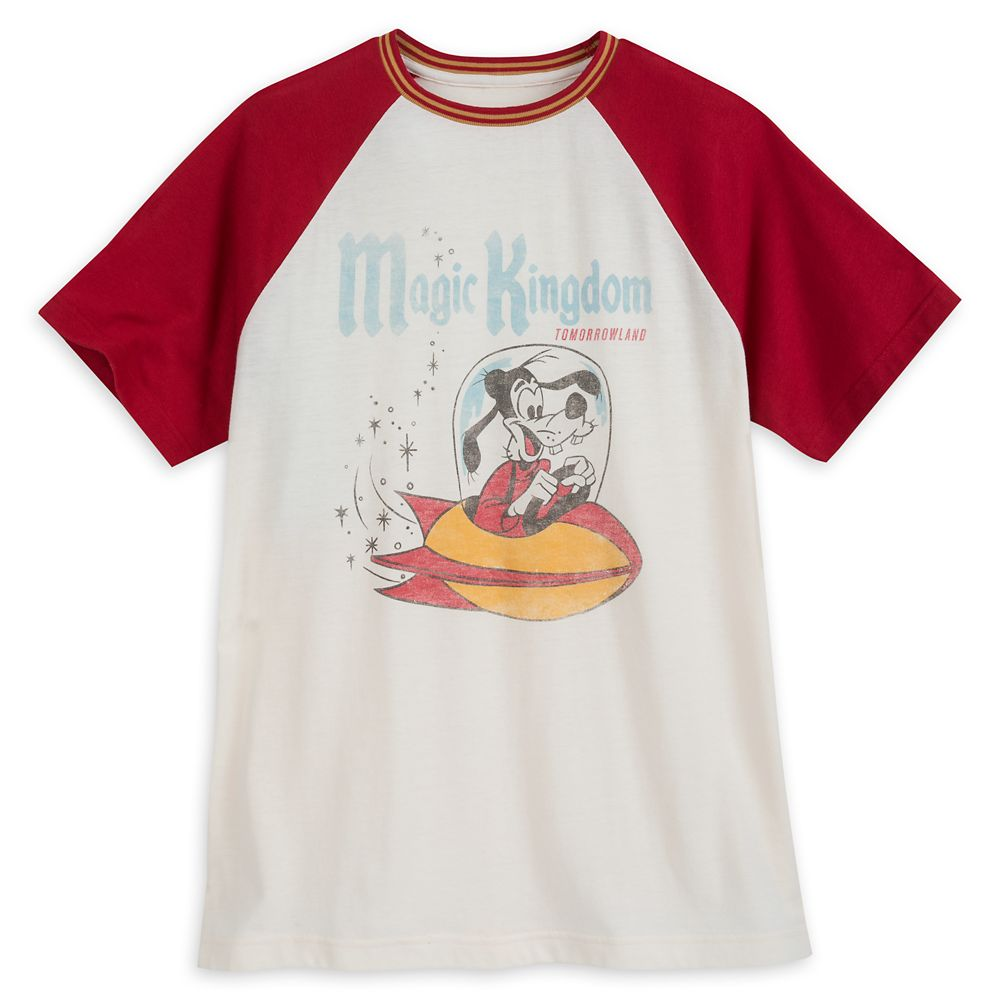 Goofy Tomorrowland Raglan T-shirt for Men by Junk Food – Magic Kingdom