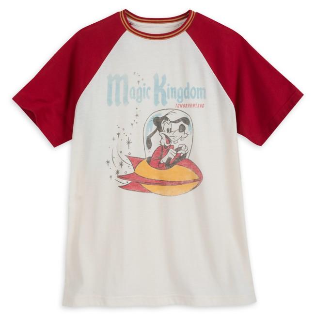 Goofy Tomorrowland Raglan T-shirt for Men by Junk Food – Magic Kingdom