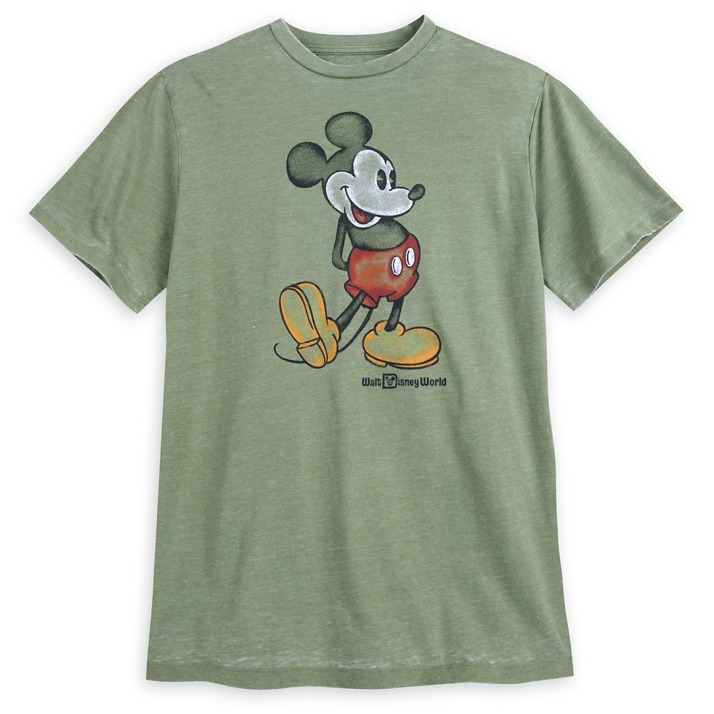 Mickey Mouse Classic T-Shirt for Men  Walt Disney World  Green