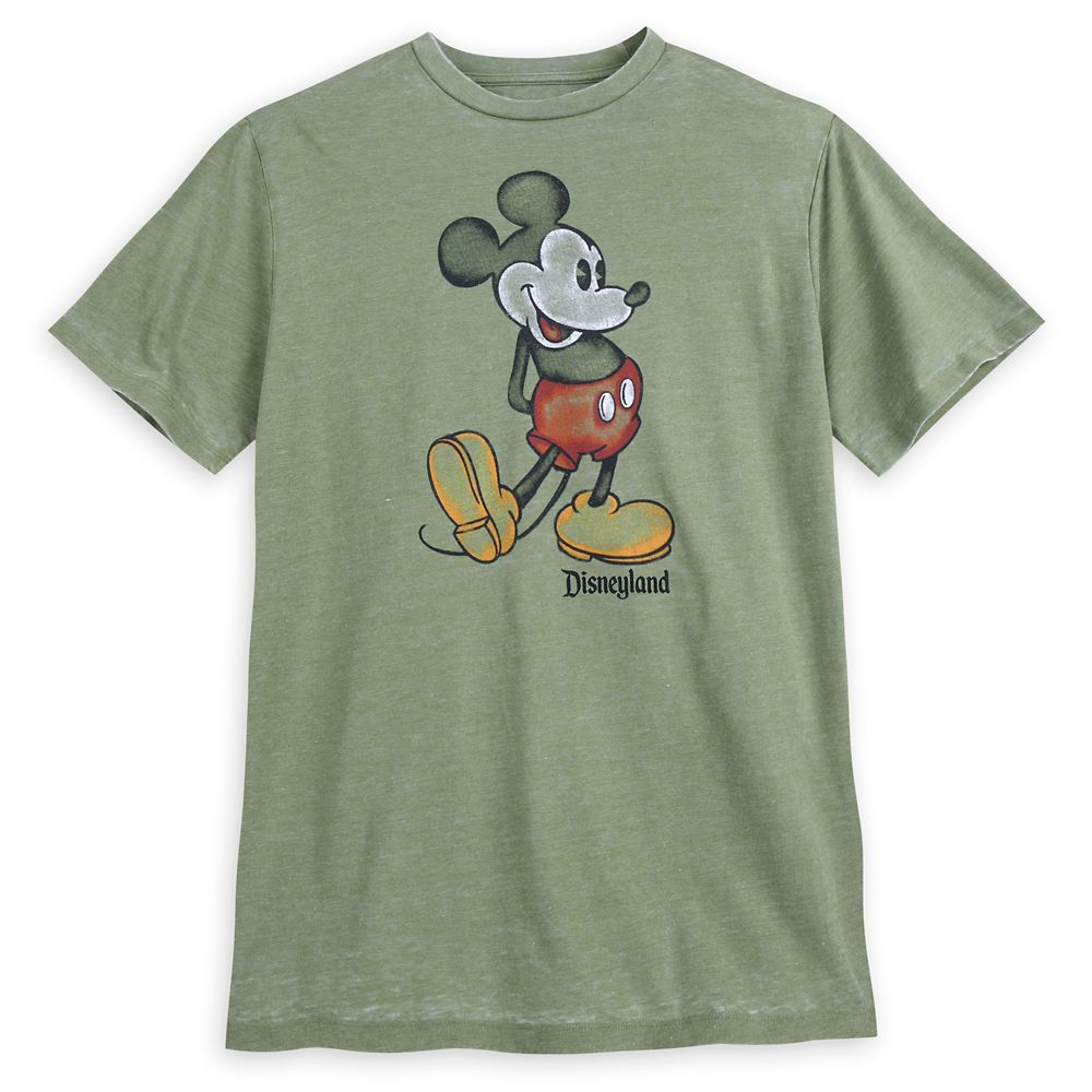 Mickey Mouse Classic T-Shirt for Men – Disneyland – Green