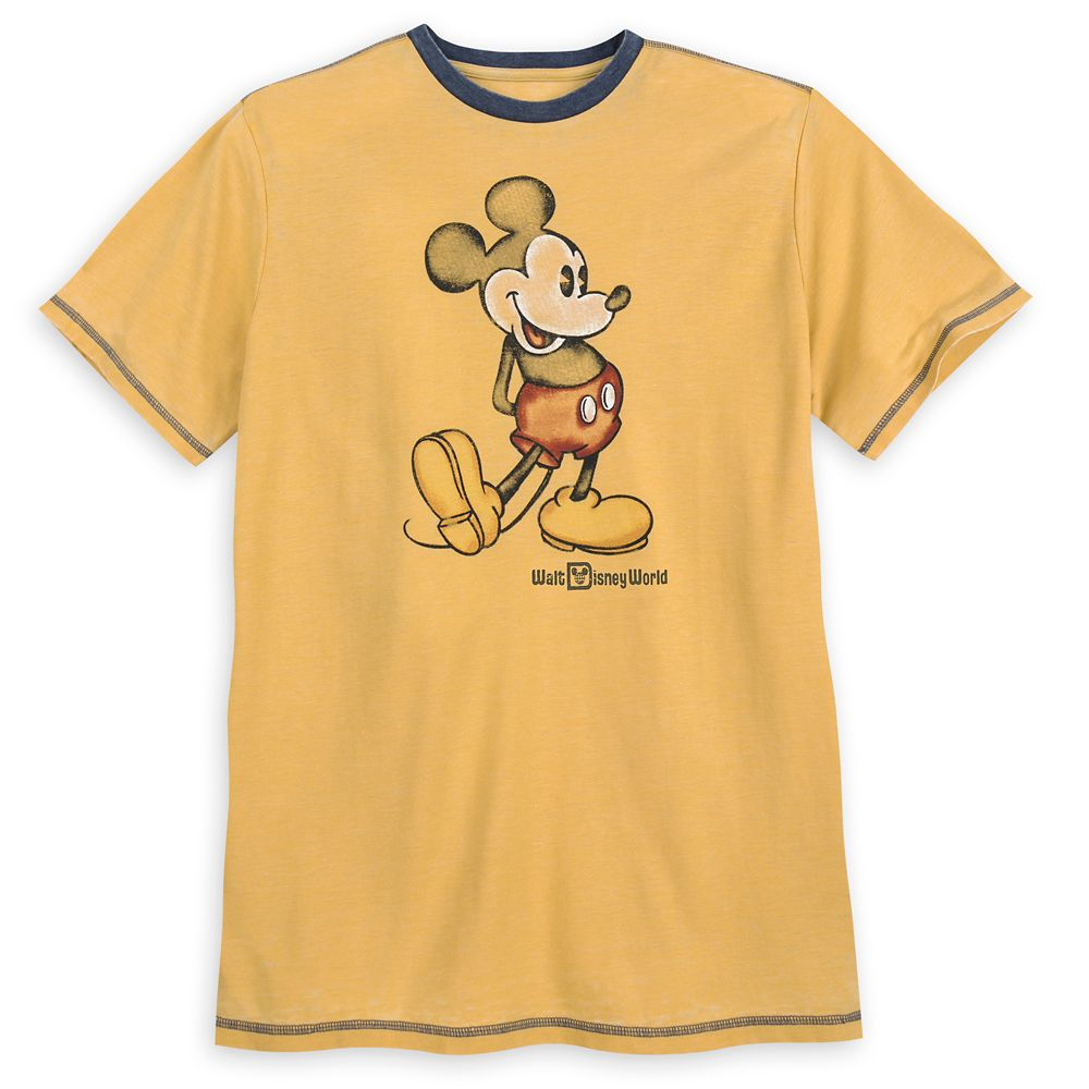 Mickey Mouse Classic Ringer T-Shirt for Men  Walt Disney World  Yellow