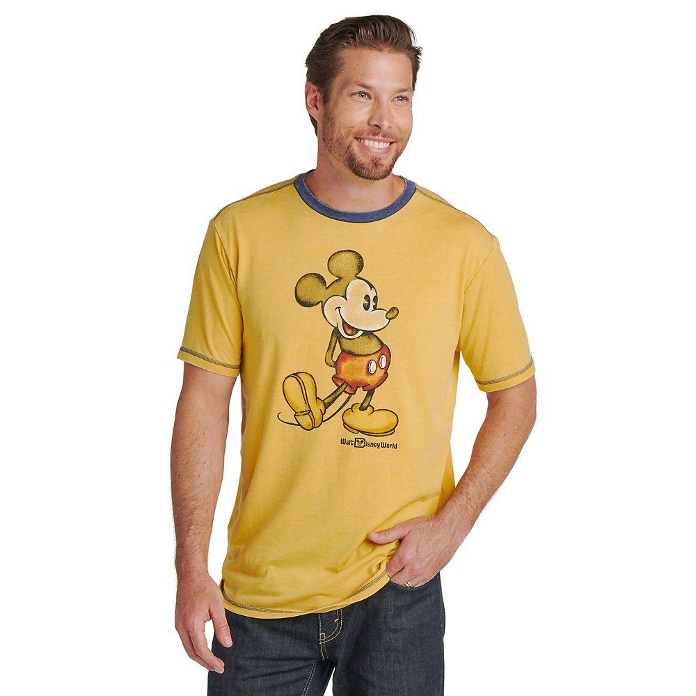 Mickey Mouse Classic Ringer T-Shirt for Men – Walt Disney World – Yellow