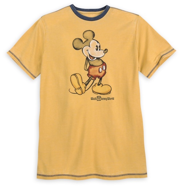 Mickey Mouse Classic Ringer T-Shirt for Men – Walt Disney World – Yellow