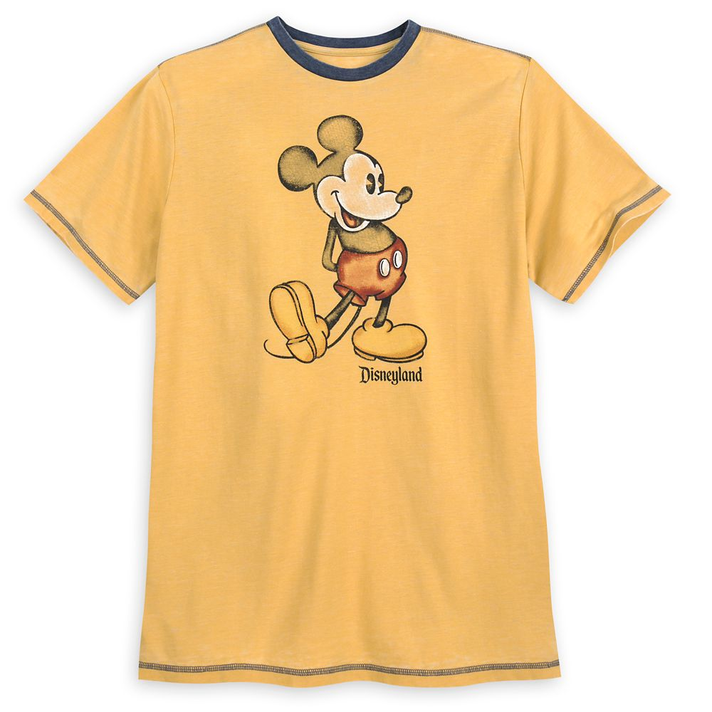 Mickey Mouse Classic Ringer T-Shirt for Men – Disneyland – Yellow
