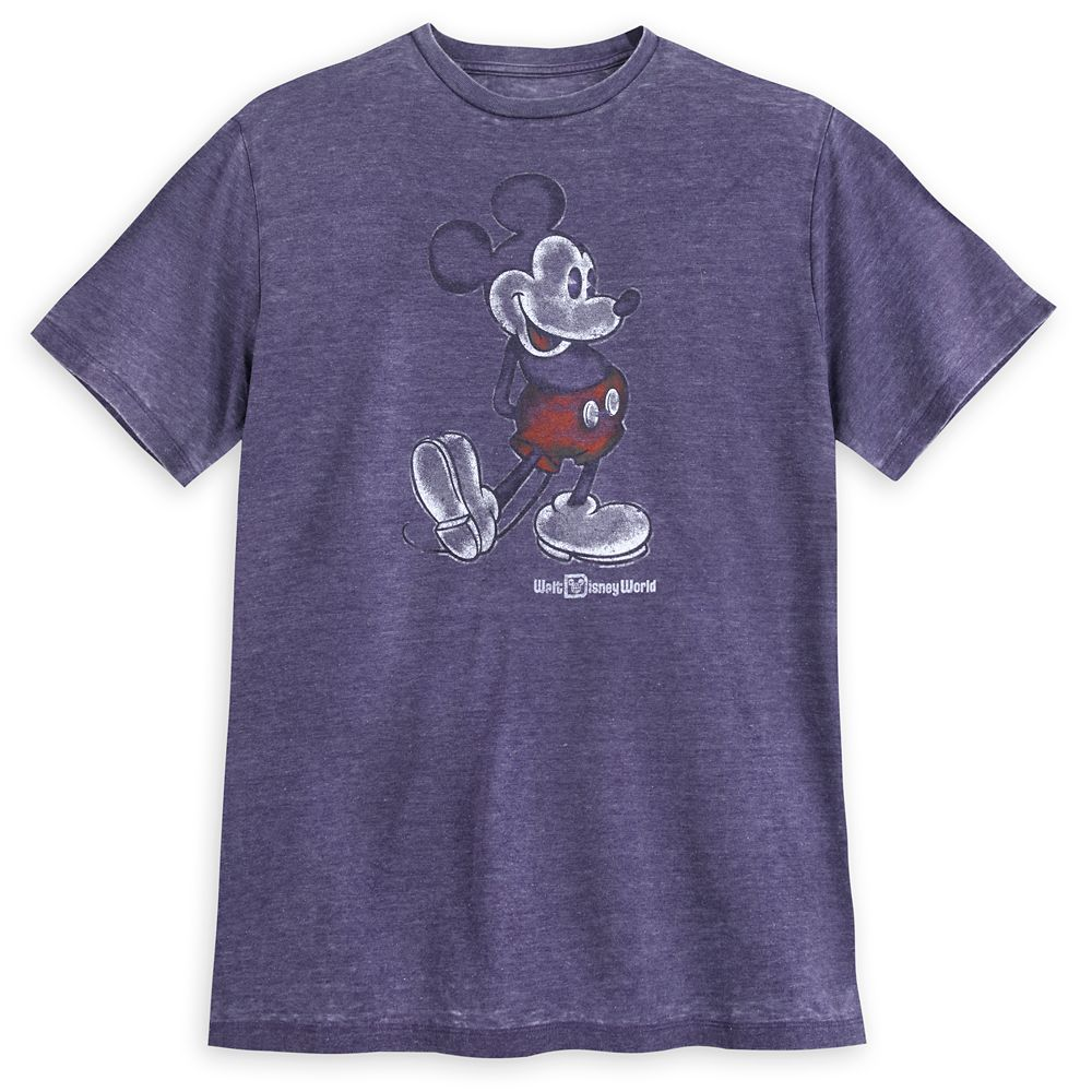 Mickey Mouse Classic T-Shirt for Men  Walt Disney World  Purple