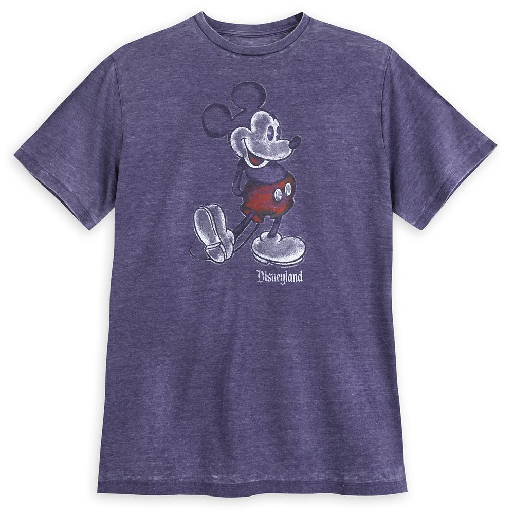 Mickey Mouse Classic T-Shirt for Men – Disneyland – Purple