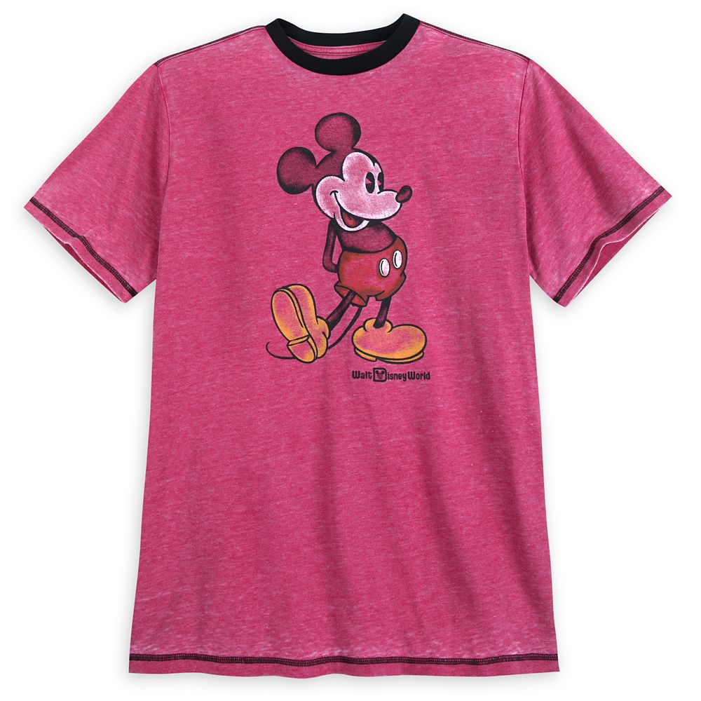 Mickey Mouse Classic Ringer T-Shirt for Men  Walt Disney World  Red