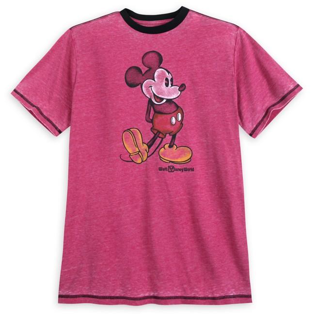 Mickey Mouse Classic Ringer T-Shirt for Men – Walt Disney World – Red