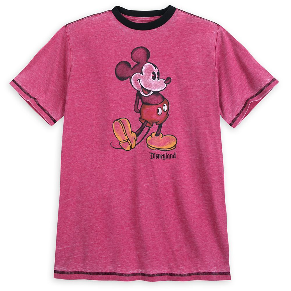Mickey Mouse Classic Ringer T-Shirt for Men – Disneyland – Red