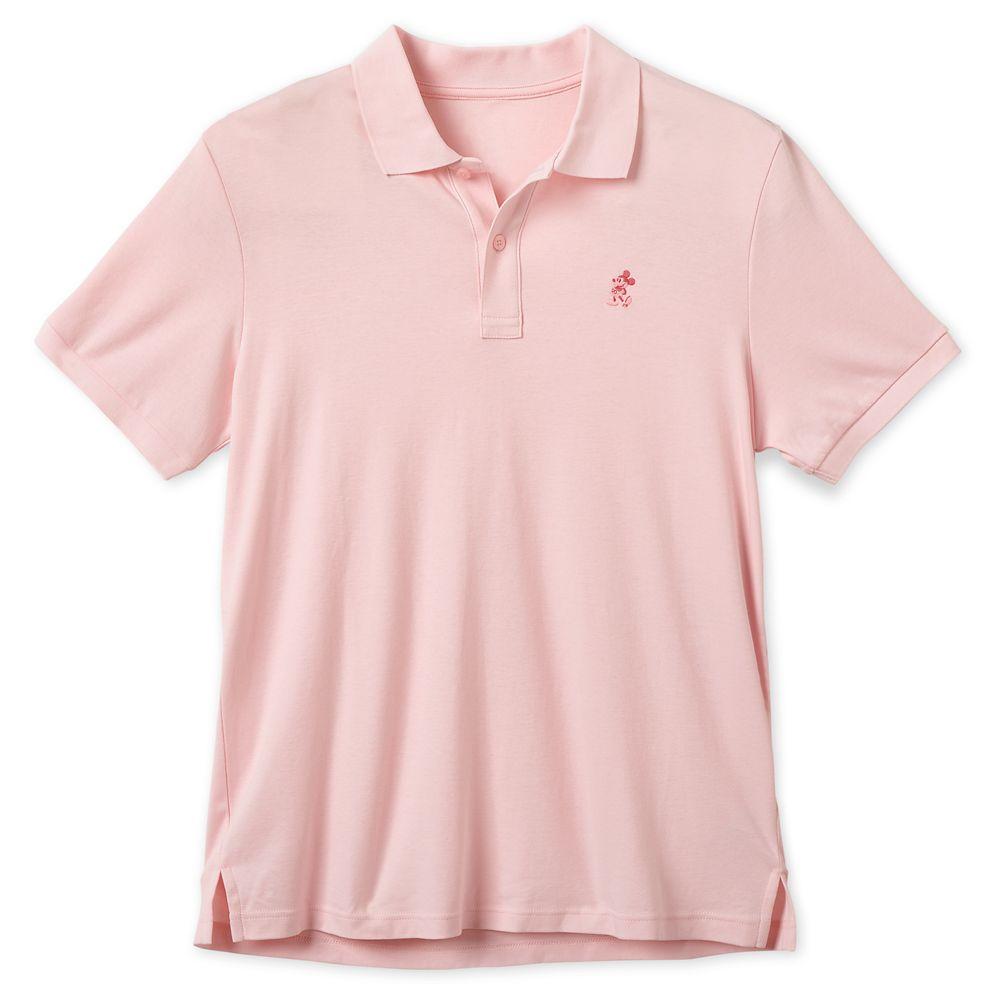 Mickey Mouse Pima Cotton Polo Shirt for Men  Pink Official shopDisney