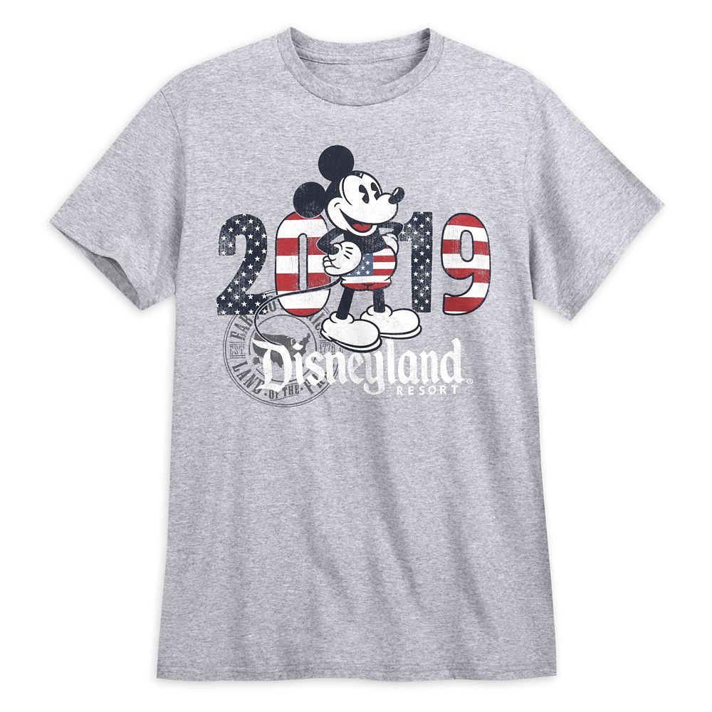 Mickey Mouse Americana T-Shirt for Men  Disneyland 2019
