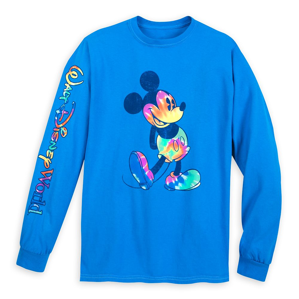 Mickey Mouse Long Sleeve Tie-Dye Print T-Shirt for Adults – Walt Disney World