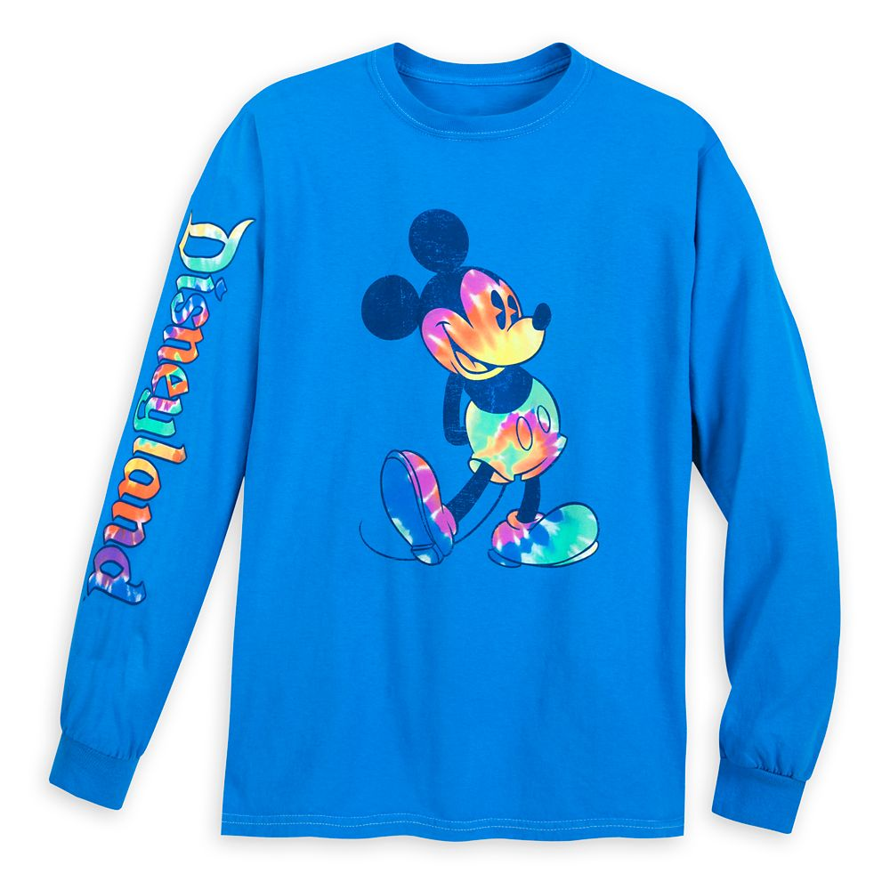 Mickey Mouse Long Sleeve Tie-Dye Print T-Shirt for Adults – Disneyland