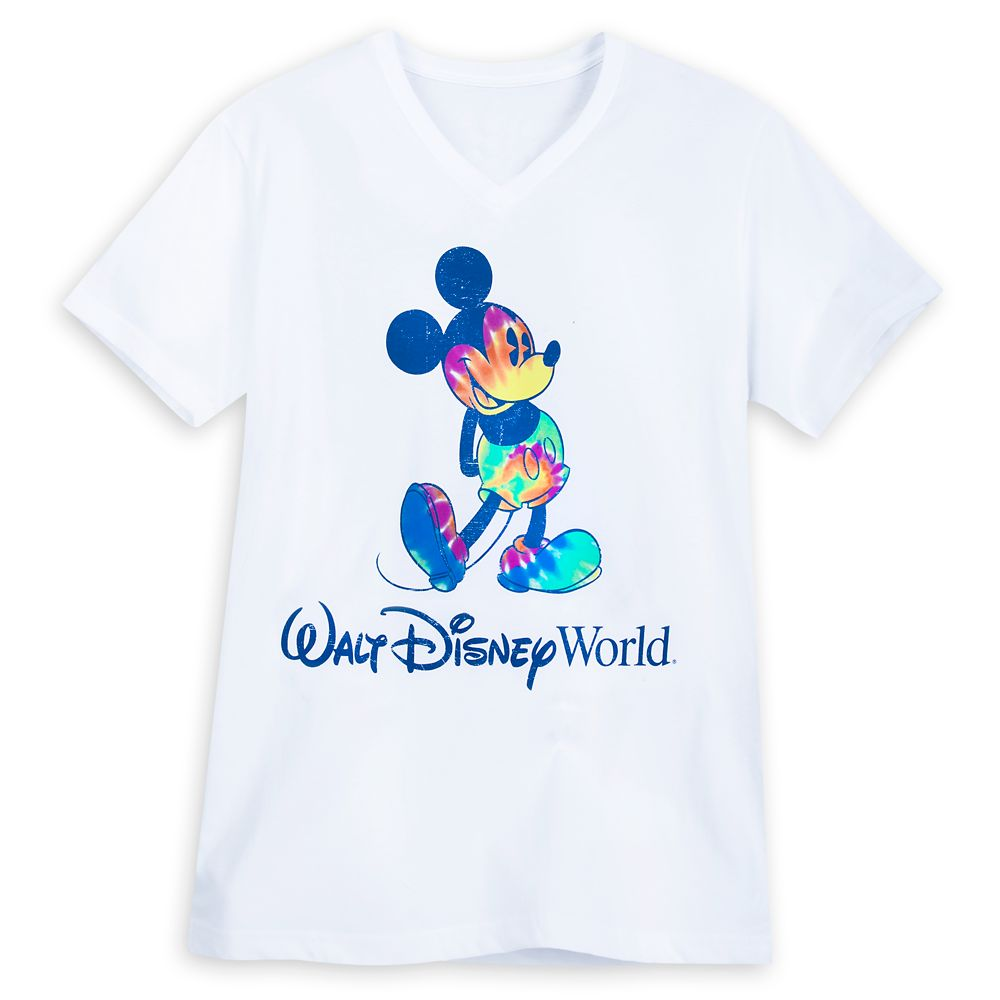 Mickey Mouse Tie-Dye Print T-Shirt for Adults – Walt Disney World