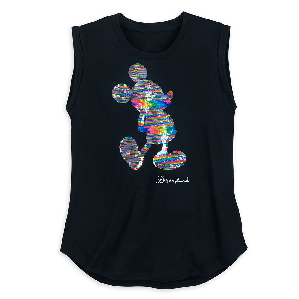 Mickey Mouse Reversible Sequin Tank Top for Women  Disneyland