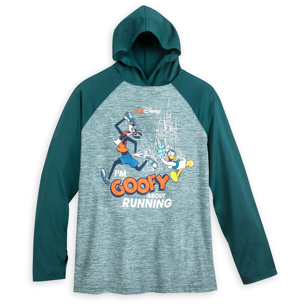 Goofy runDisney Long Sleeve Hooded Performance Top for Adults