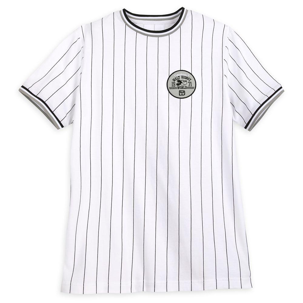 Mickey Mouse Striped Baseball T-Shirt for Men – Walt Disney World
