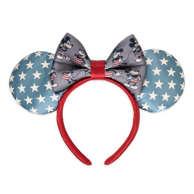 Mickey and Minnie Mouse Americana Ear Headband by Harveys – Limited Release