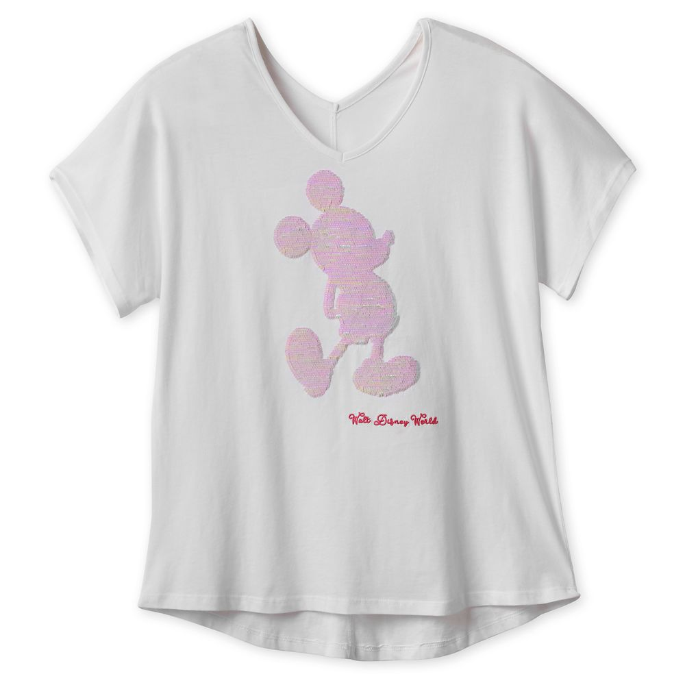 Disney Girls Mickey Mouse Metallic Face T-Shirt