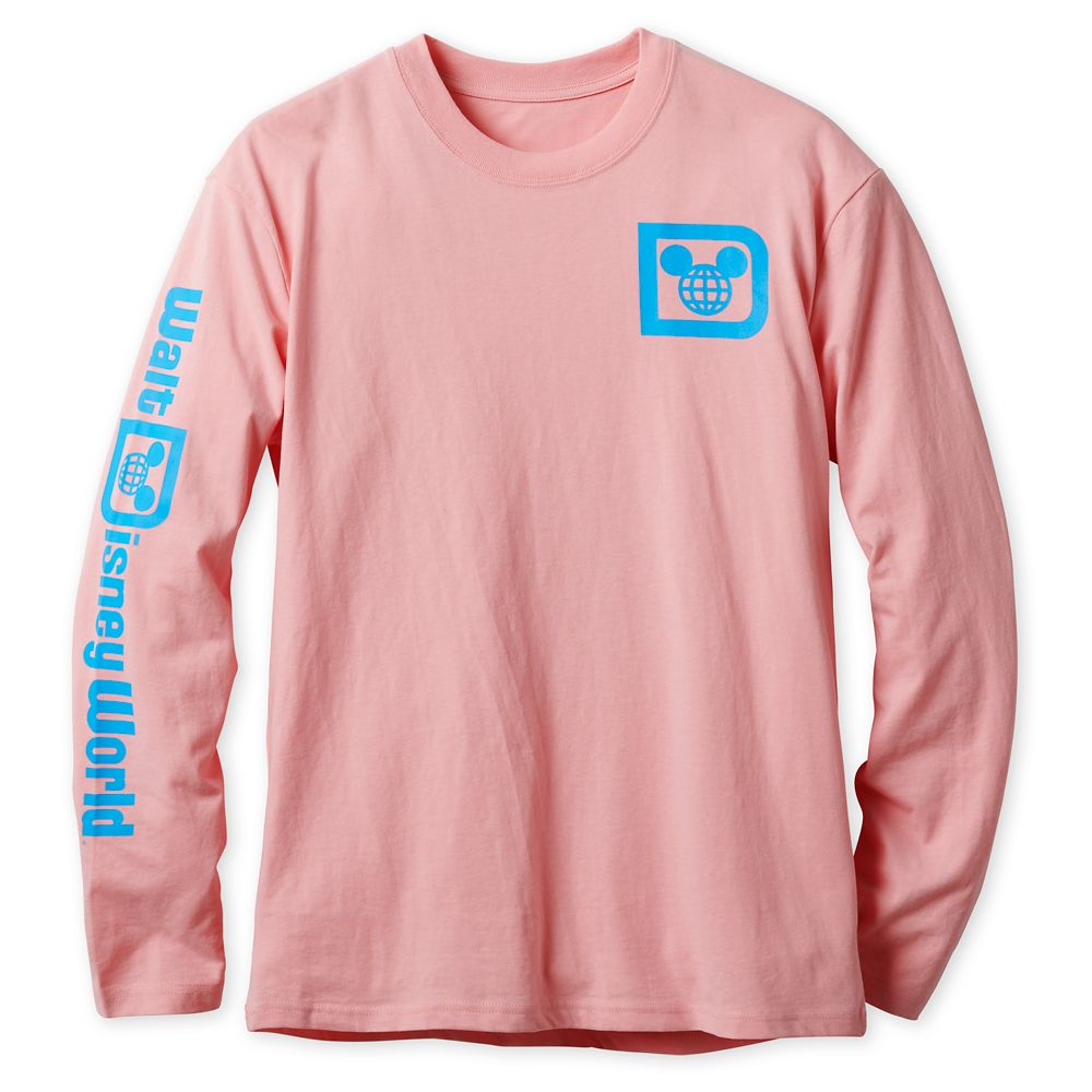 Walt Disney World Logo Long Sleeve Tee for Adults – Pink