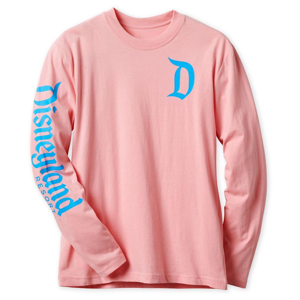 Disneyland Logo Long Sleeve Tee for Adults – Pink