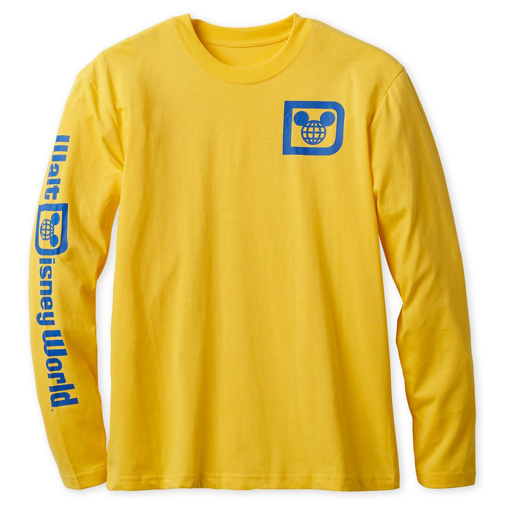 Walt Disney World Logo Long Sleeve Tee for Adults – Yellow