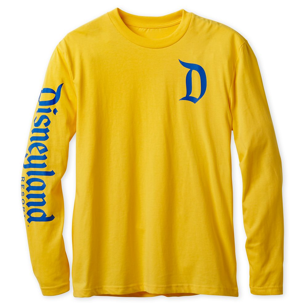 Disneyland Logo Long Sleeve Tee for Adults – Yellow