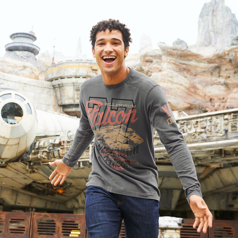 Millennium Falcon Long Sleeve T-Shirt for Men – Star Wars