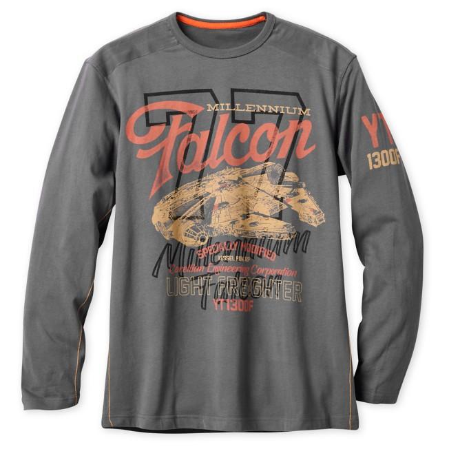 Millennium Falcon Long Sleeve T-Shirt for Men – Star Wars