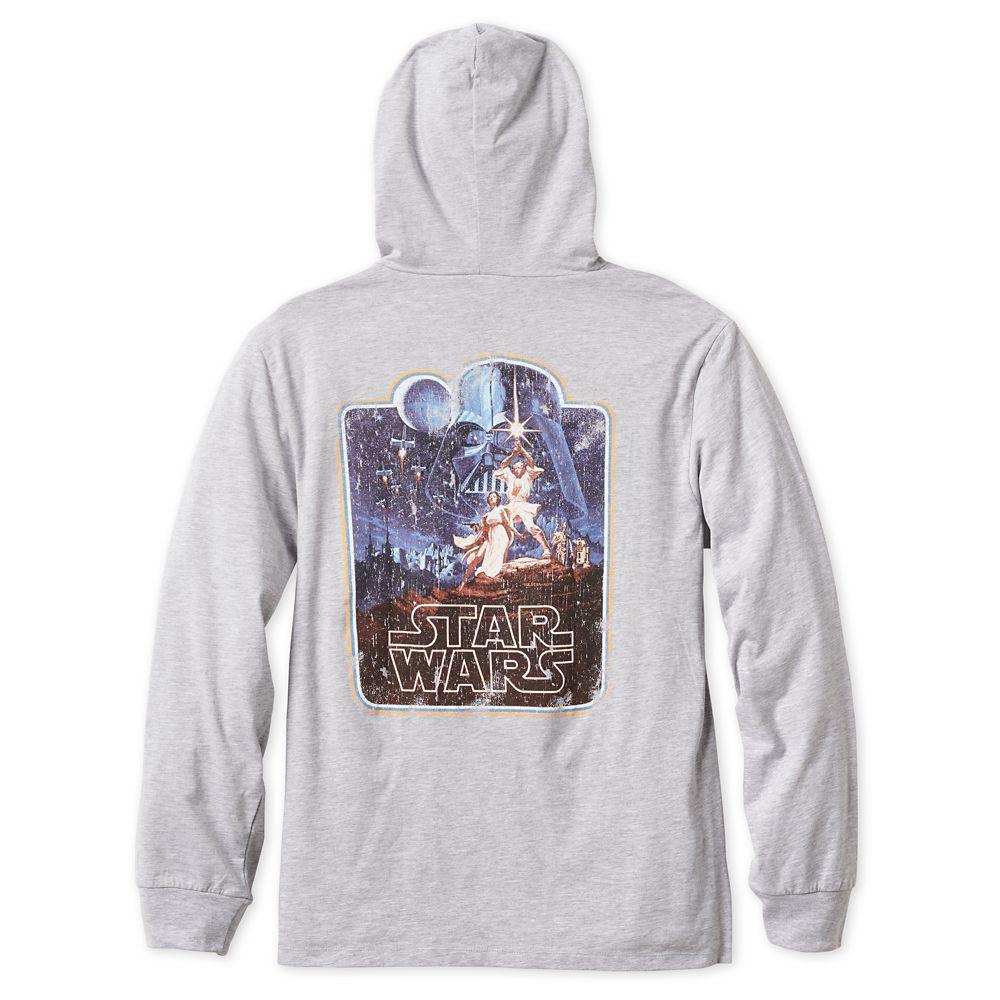 Star Wars Original Movie Poster Long Sleeve Hooded T-Shirt