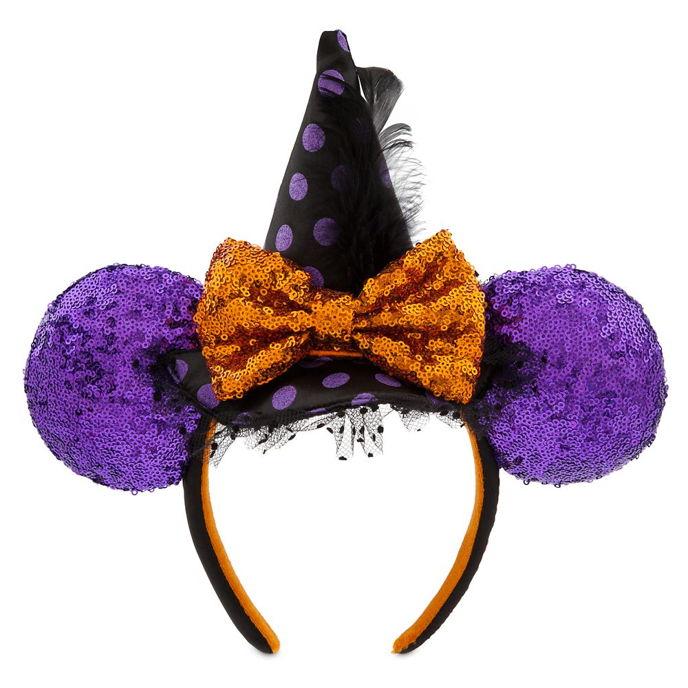 Minnie Mouse Witch Sequined Ear Headband – Halloween