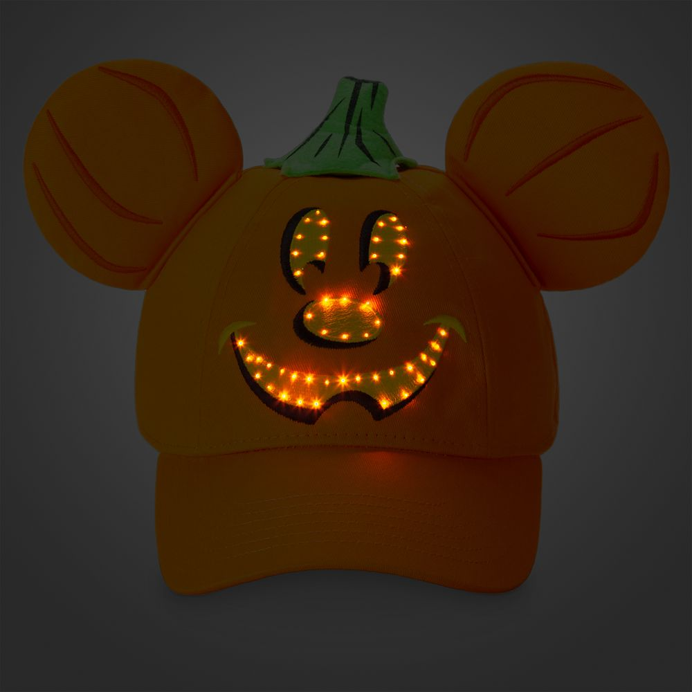 Mickey Mouse Light-Up Halloween Baseball Hat for Adults