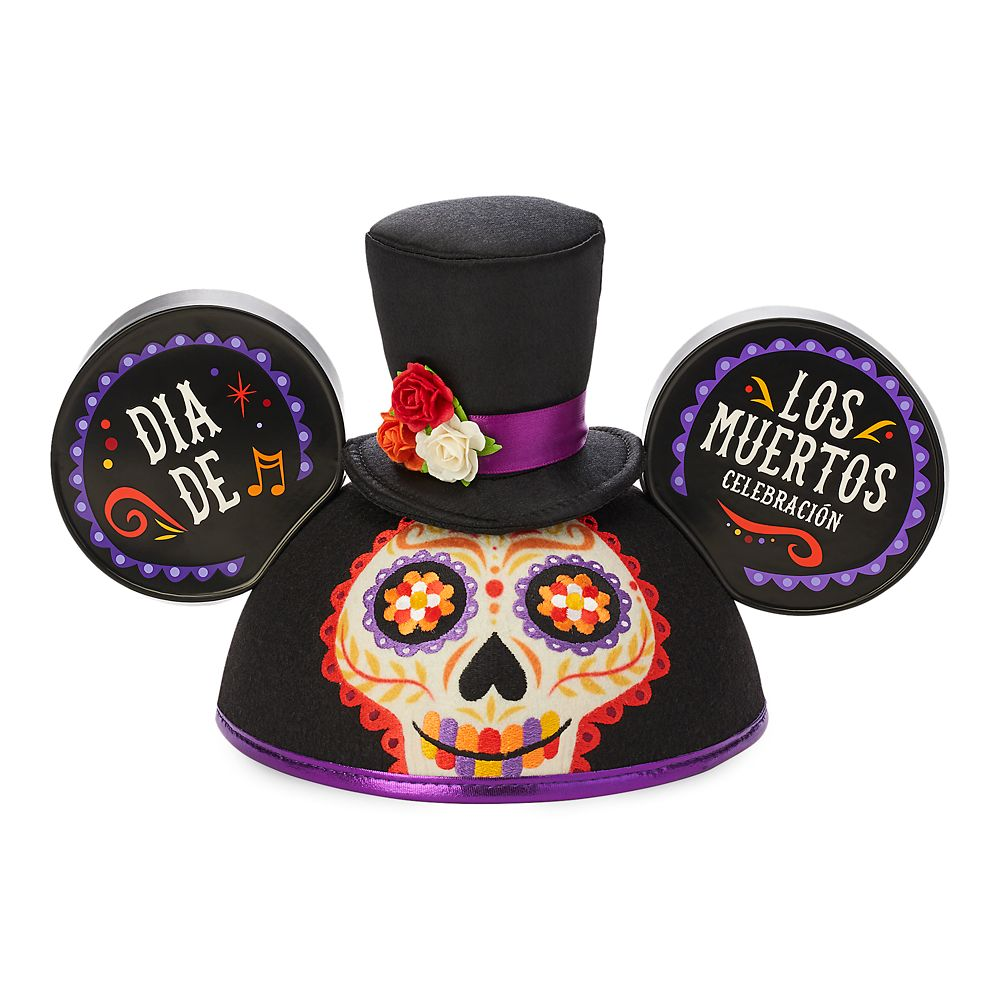 Dia De Los Muertos Mickey Mouse Ear Hat for Adults Official shopDisney