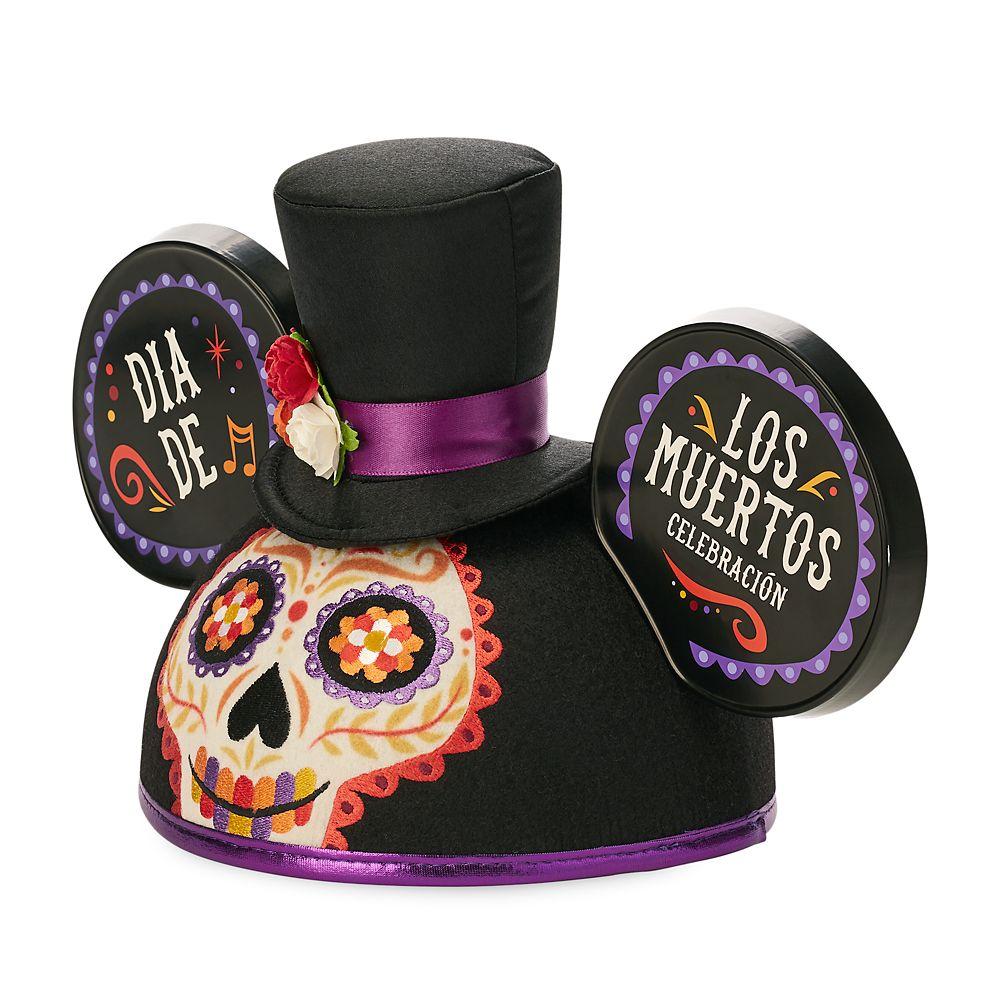 Dia De Los Muertos Mickey Mouse Ear Hat for Adults