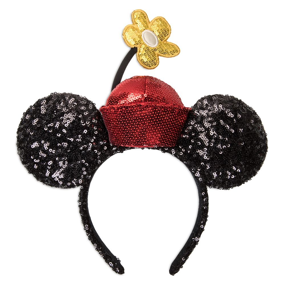 Minnie Mouse Sequined Ear Headband with Flower Pot Hat